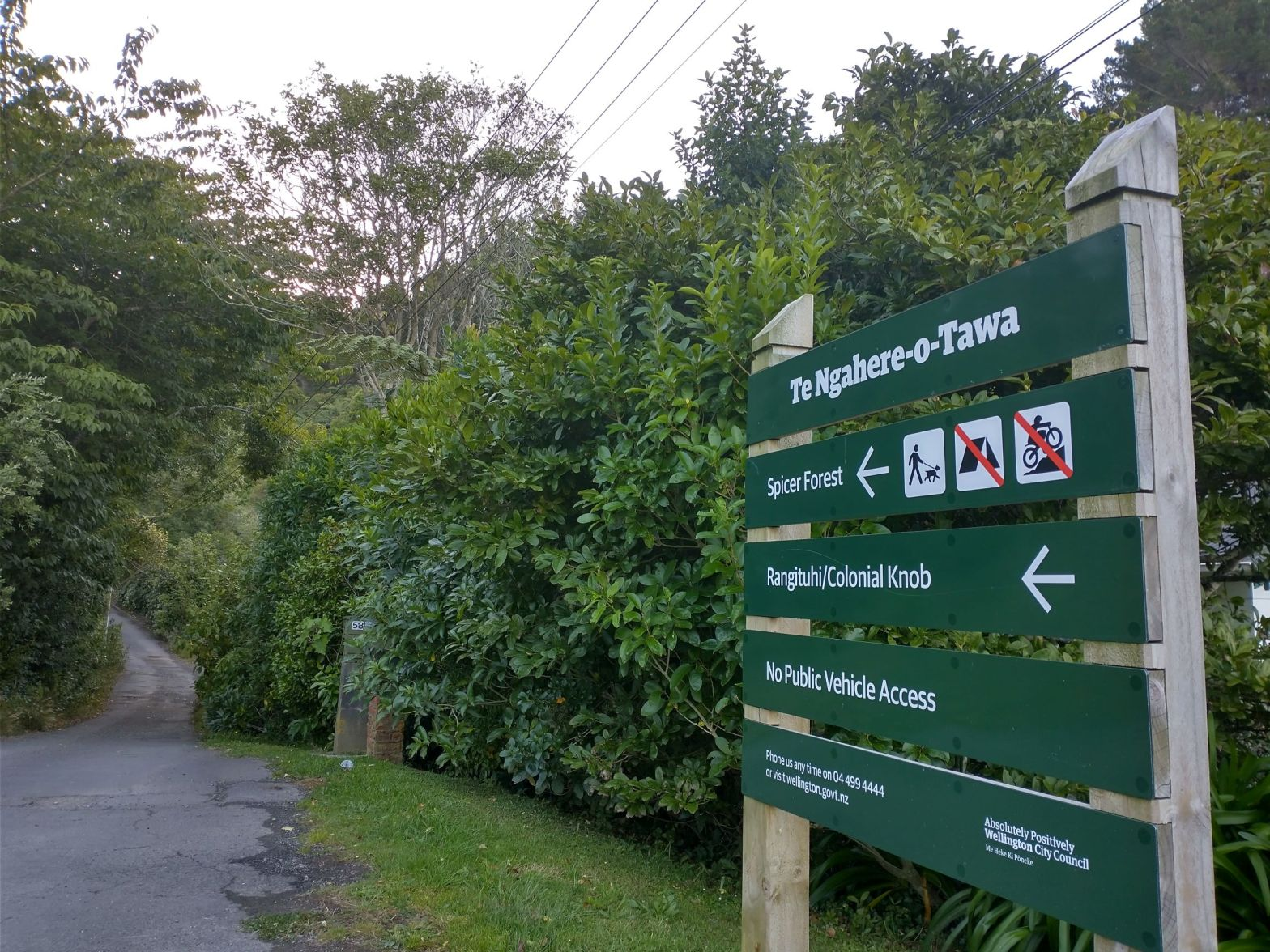 Forest of Tawa entrance sign