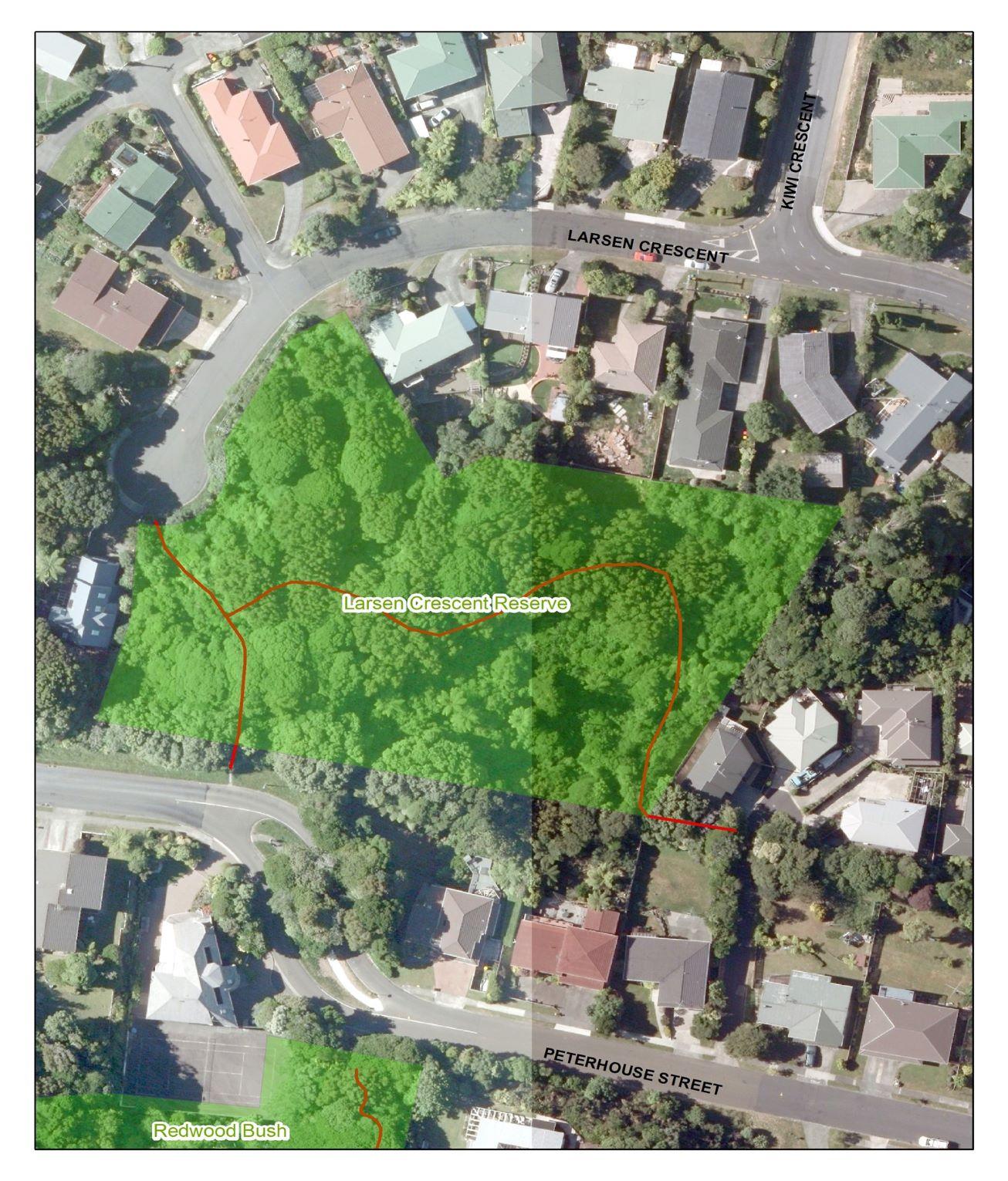 Aerial map Larsen Cres Reserve