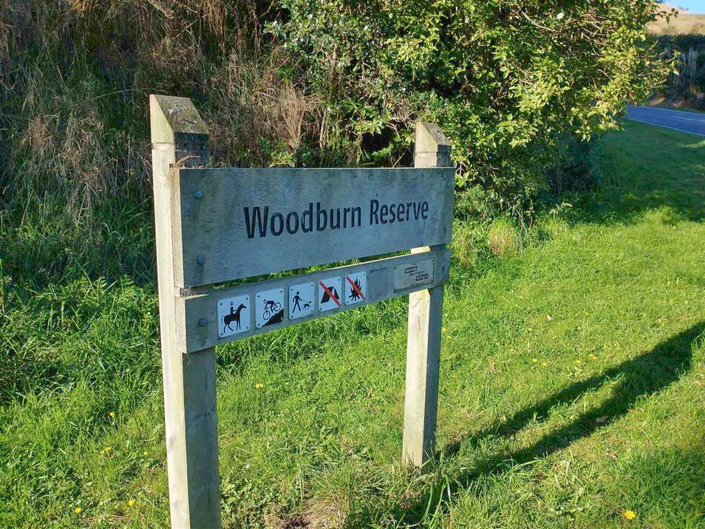 Entrance Sign at Woodburn Reserve April 2021 | Friends of Tawa Bush
