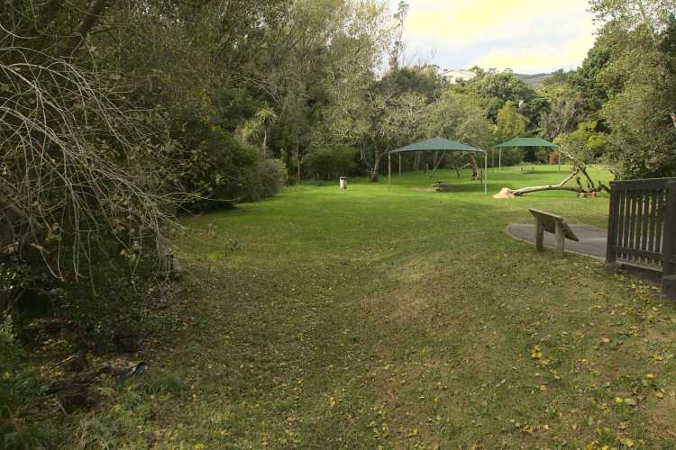 Willowbank Reserve tables and shelters