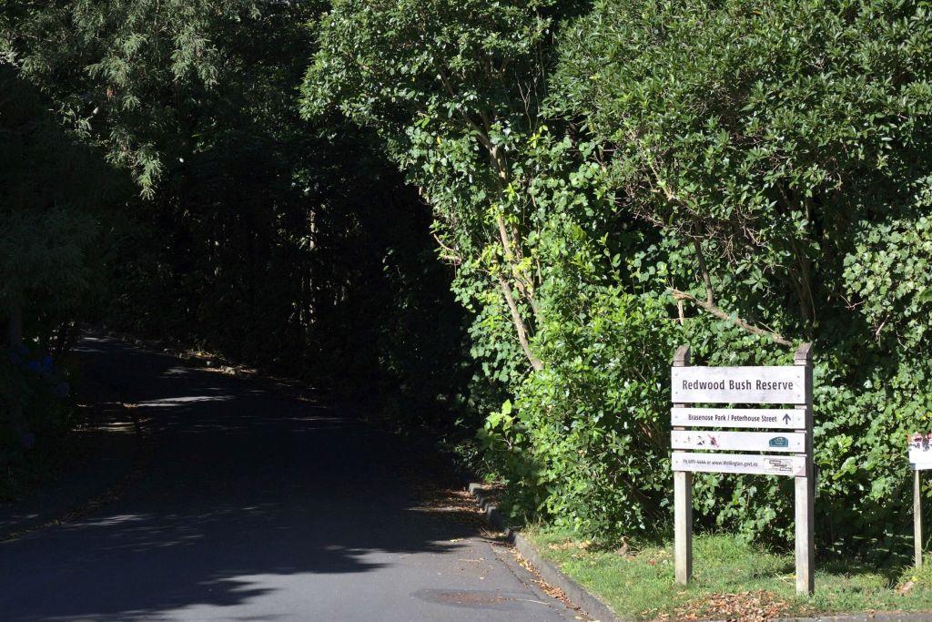 Redwood Bush Reserve Entrance