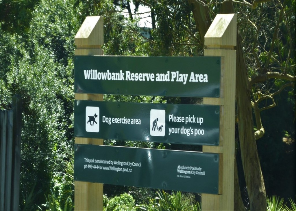 Willowbank Reserve Sign