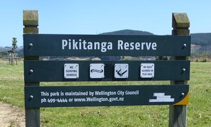 Pikitanga reserve sign