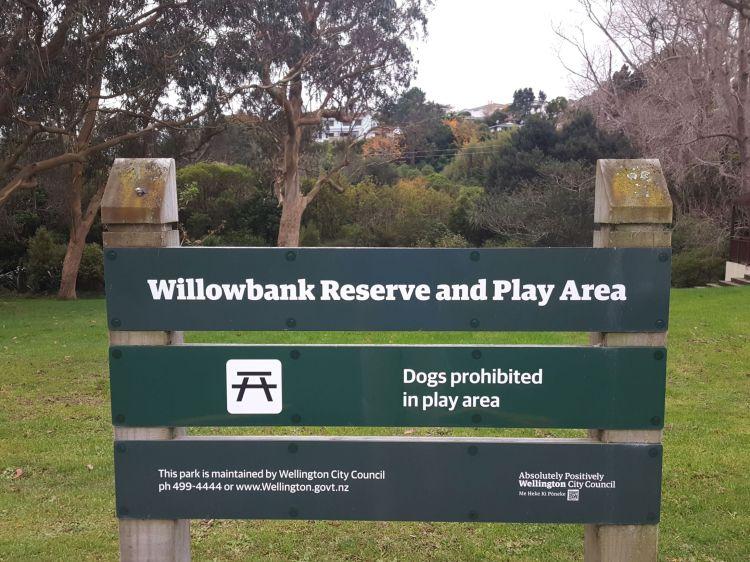 Willowbank Reserve Sign Boscobel Lane entrance 2021 06 06